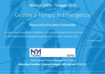 Webinar SUPSI 5 maggio 2020 – Gestire il Tempo in Emergenza